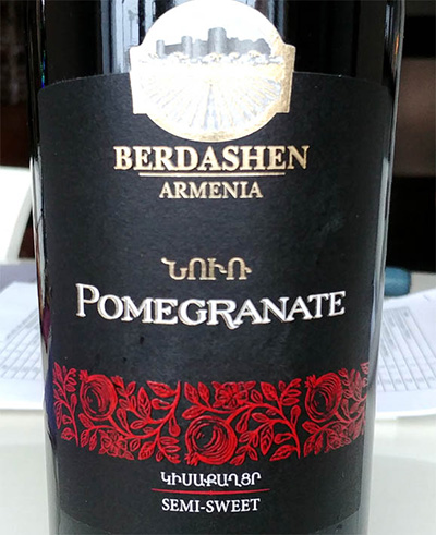 Отзыв о вине Pomegranate semi-sweet Berdashen 2016