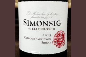 Отзыв о вине Simonsig cabernet sauvignon shiraz 2015