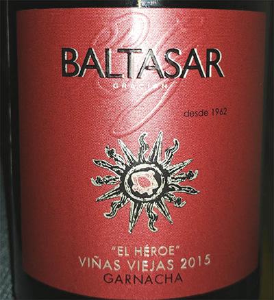 Отзыв о вине Baltasar gracian Garnacha 2015