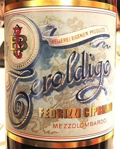 Отзыв о вине Fedrizzi Cipriano Teroldigo Vini dell'Angelo 2015