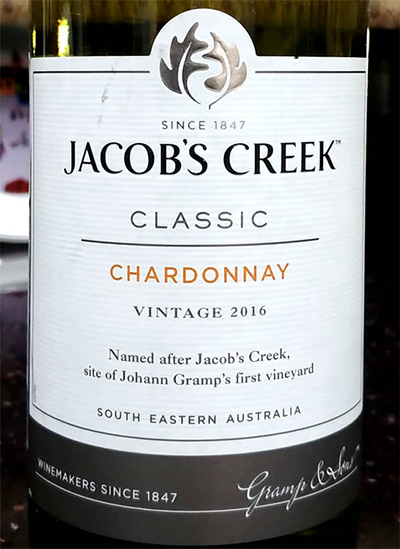 Отзыв о вине Jacob's Creek chardonnay classic vintage 2016