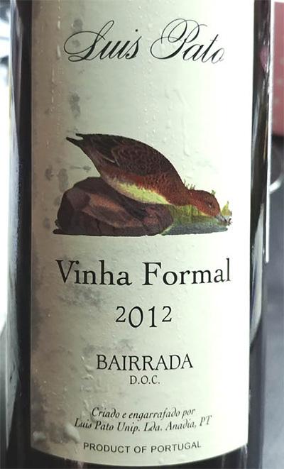 Отзыв о вине Luis Pato Vinha Formal bairrada 2012