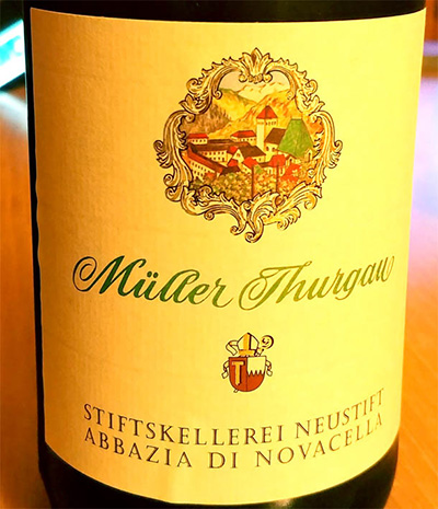 Отзыв о вине Muller Torgau Abbazia di Novacella 2016