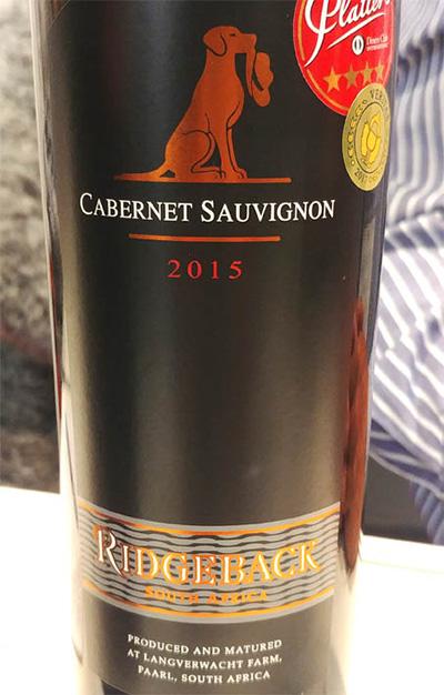 Отзыв о вине Ridgeback cabernet sauvignon 2015