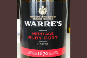 Отзыв о портвейне (ликерное вино) Warre's heritage ruby port 2017