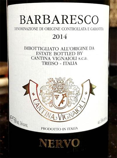 Отзыв о вине Barbaresco cantina Vignaioli Nervo 2014