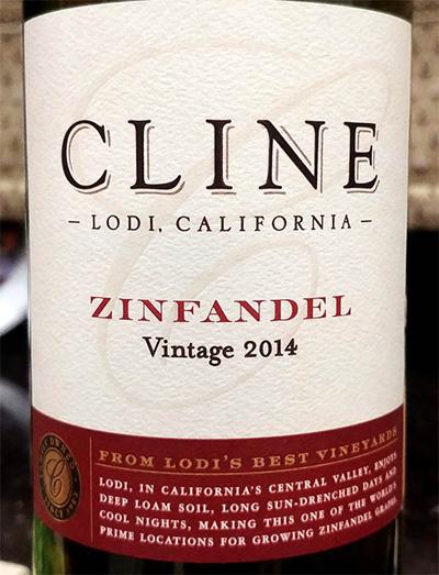 Отзыв о вине Cline zinfandel vintage 2014