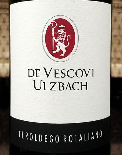 Отзыв о вине De Vescovi Ulzbach teroldego rotaliano 2015