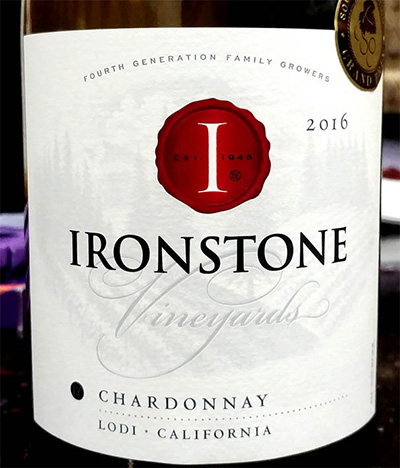 Отзыв о вине Ironstone vineyards chardonnay 2016