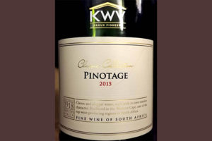 Отзыв о вине KWV Classic collection Pinotage 2015