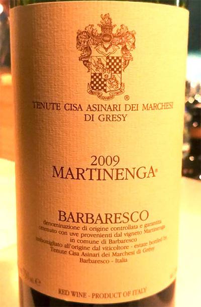 Отзыв о вине Martinenga barbaresco - Tenute Cisa Asinari dei Marchesi Di Gresy 2009