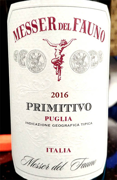 Отзыв о вине Messer del Fauno primitivo 2016
