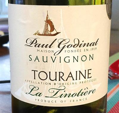Отзыв о вине Paul Godinat Touraine sauvignon La Linotiere 2016
