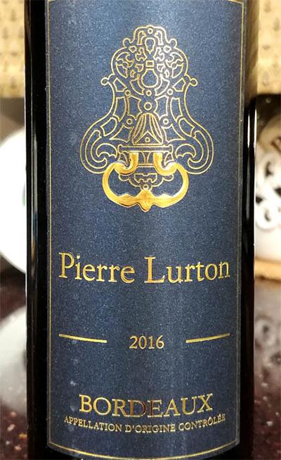 Отзыв о вине Pierre Lurton rouge 2016