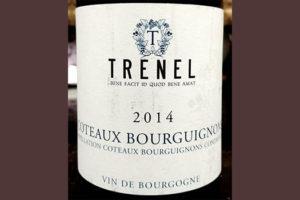 Отзыв о вине Trenel Coteaux Bourguignons 2014