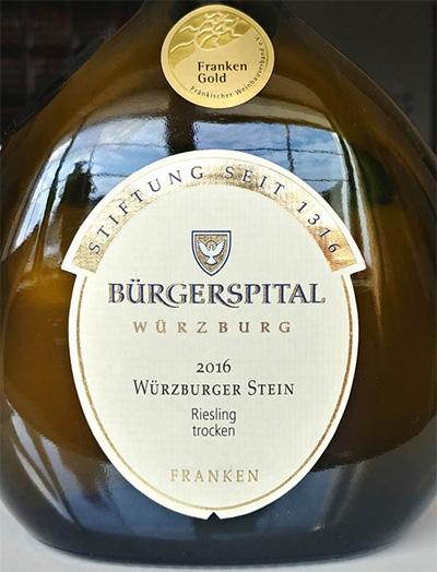 Отзыв о вине Burgerspital Wurzburger Stein Riesling trocken 2016