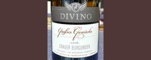 Отзыв о вине Divino Grotzes Gewachs grauer burgunder trocken 2016