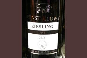 Отзыв о вине Ernst Ludwig Riesling dry 2016