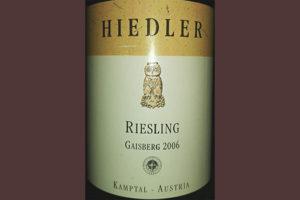 Отзыв о вине Hiedler Riesling Gaisberg 2006