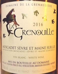 Отзыв о вине La Grenouille muscadet vin blanc 2016