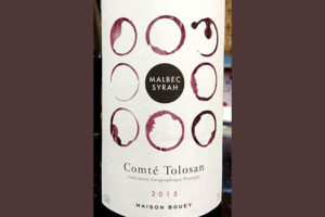 Отзыв о вине Maison Bouey Comte Tolosan malbec syrah 2015