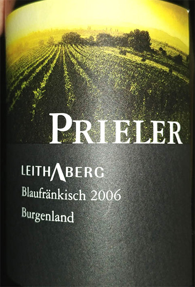 Отзыв о вине Prieler blaufrankisch 2006