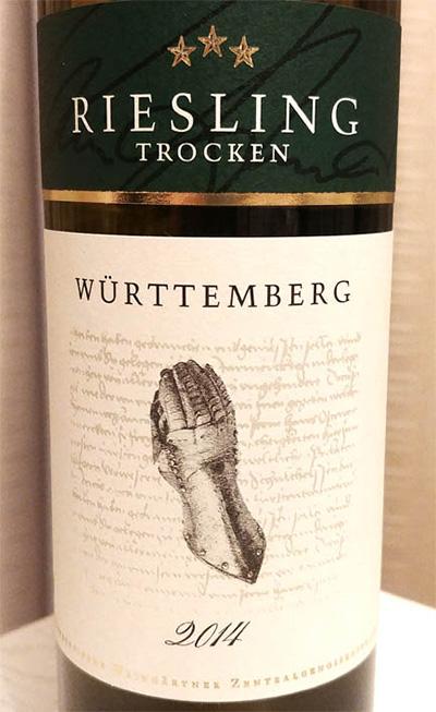 Отзыв о вине Riesling trocken Wurttemberg 2014