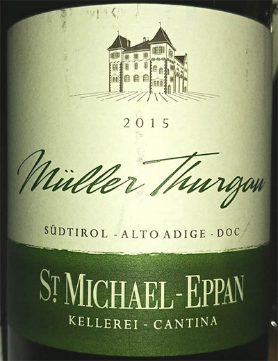 Отзыв о вине St.Michael-Eppan Muller Thurgau 2015