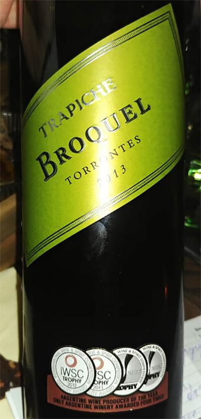 Отзыв о вине Trapiche Broquel torrontes 2013