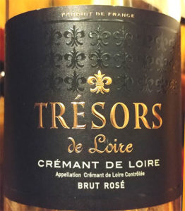 Отзыв об игристом вине Tresors de Loire cremant brut rose 2014