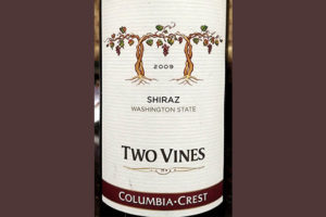 Отзыв о вине Two Vines shiraz Columbia Crest 2009