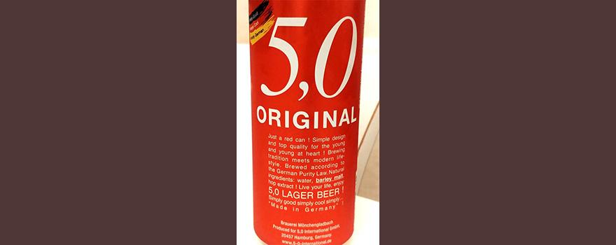 Отзыв о пиве 5.0 original lager beer
