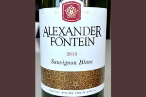 Отзыв о вине Alexander Fortein Sauvignon Blanc 2016