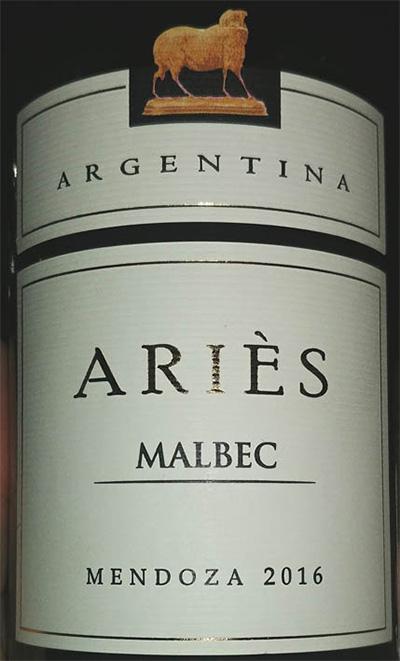 Отзыв о вине Aries malbec 2016