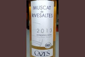 Отзыв о вине Cazes Muscat de Rivesaltes 2013