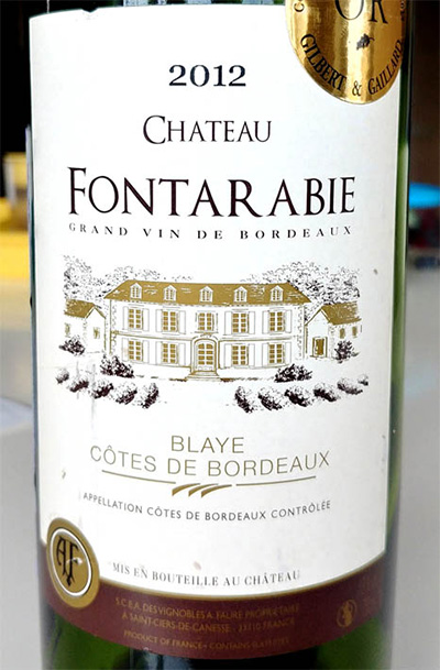Отзыв о вине Chateau Fontarabie rouge 2012