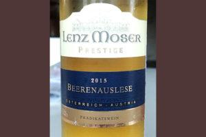 Отзыв о вине Lenz Moser prestige Beerenauslese 2015