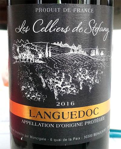 Отзыв о вине Les Celliers de Stefany Languedoc 2016