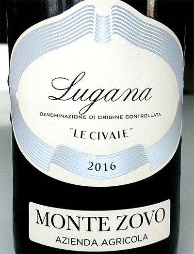 Отзыв о вине Lugana Le Civaie Monte Zovo 2016