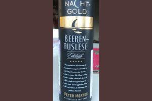 Отзыв о вине Nacht-Gold Beerenauslese Peter Mertes 2017