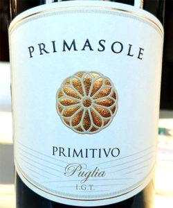 Отзыв о вине Primasole primitivo Puglia 2016