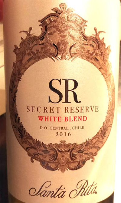 Отзыв о вине SR secret reserve white blend 2016