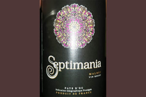 Отзыв о вине Septimania malbec vin rouge 2016