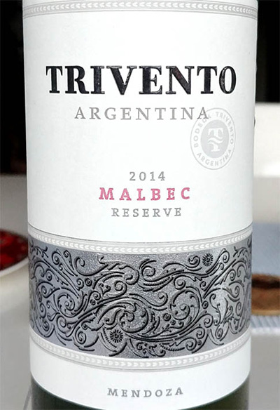 Отзыв о вине Trivento malbec reserva 2014