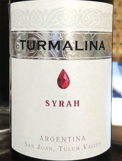 Отзыв о вине Turmalina syrah 2016