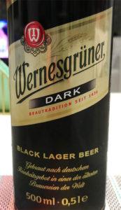 Отзыв о пиве Wernesgruner dark lager beer