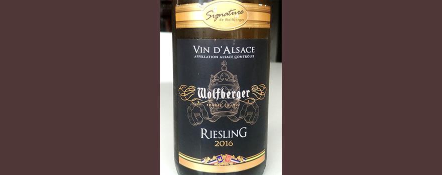 Отзыв о вине Wolfberger Riesling vin d'Alsace 2016