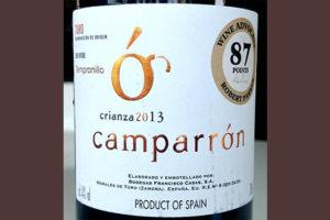 Отзыв о вине Camparron Tempranillo crianza 2013