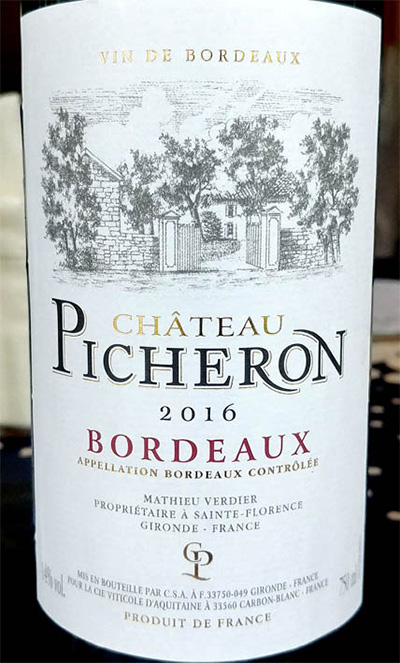Отзыв о вине Chateau Picheron rouge 2016
