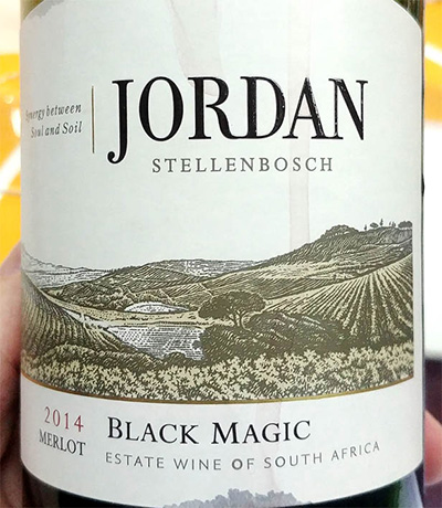 Отзыв о вине Jordan Black Magic Merlot 2014
